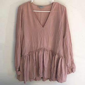 All Saints Blush Flowy Top Medium